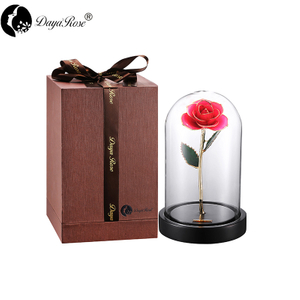 Wholesale Processing Customized Diana Pink Gold Rose (The Glass Cover)