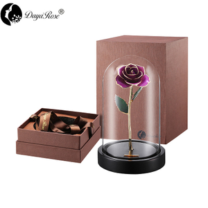 Wholesale Processing Customized Diana Purple Gold Rose (The Glass Cover)