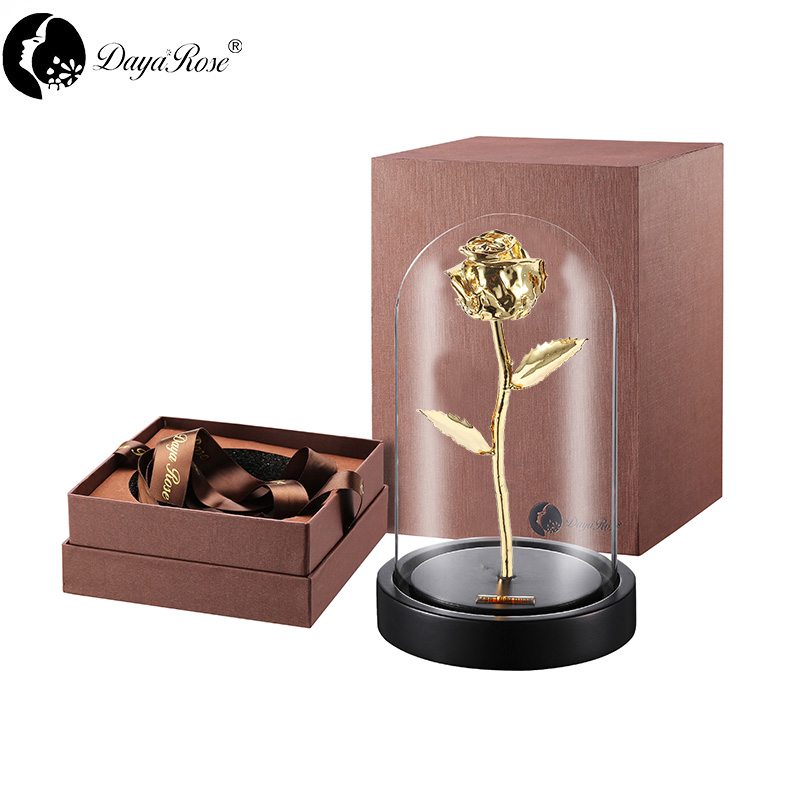 Daiya Bud Venus Rose in 24k Gold /The Glass Cover