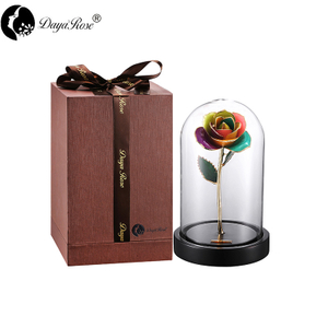 Wholesale Processing Customized Diana Colorful Gold Rose (The Glass Cover)