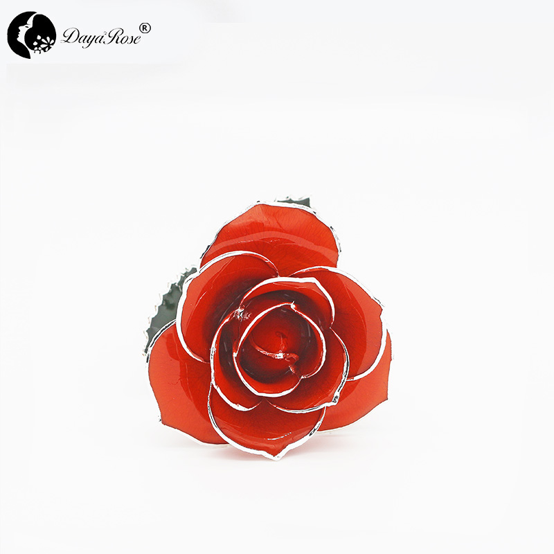 Deep Orange with Silver Rose(July)