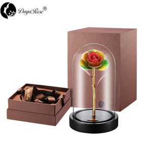 Daiya Tricolor Rose 24K Gold /gold Leaf+The Glass Cover