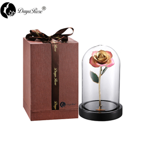 Wholesale Processing Customized Diana Champagne Pink Gold Rose (The Glass Cover)