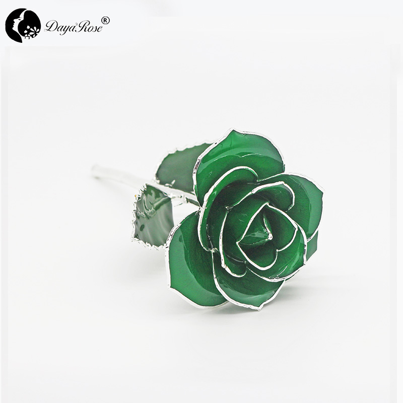 Dark Green with Silver Roses(May)