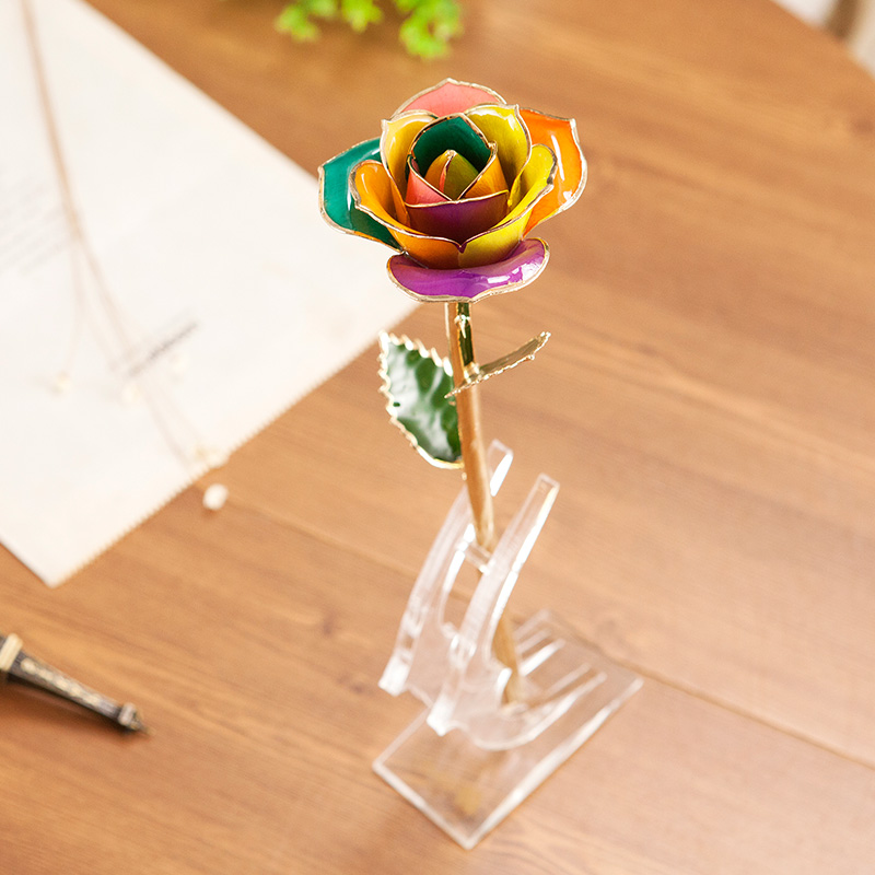 Wholesale Processing Customized Diana Colorful Gold Rose
