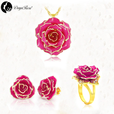 Jane Eyre Gold Rose Solid Color Jewelry (natural Flowers)