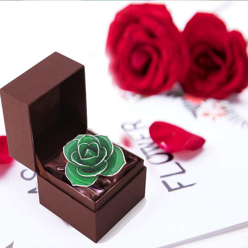 Silver Dark Green Rose(Independent Beautiful)