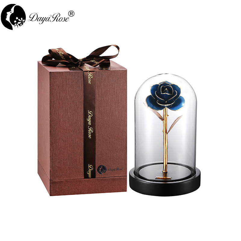 Daiya Blue Rose 24K Gold /gold Leaf+The Glass Cover