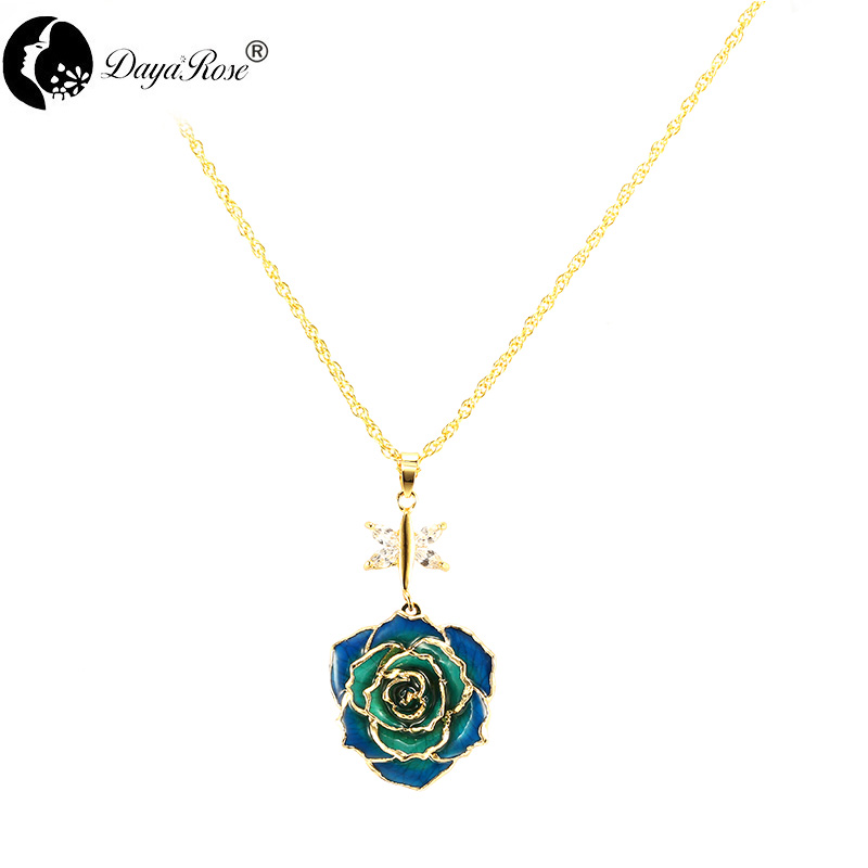 Angel Wings Two-color Rose Necklace (fresh Rose)