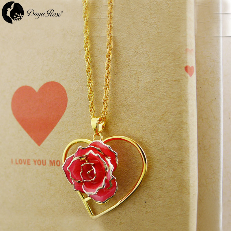 Beautiful Gold Rose Necklace (fresh Rose)