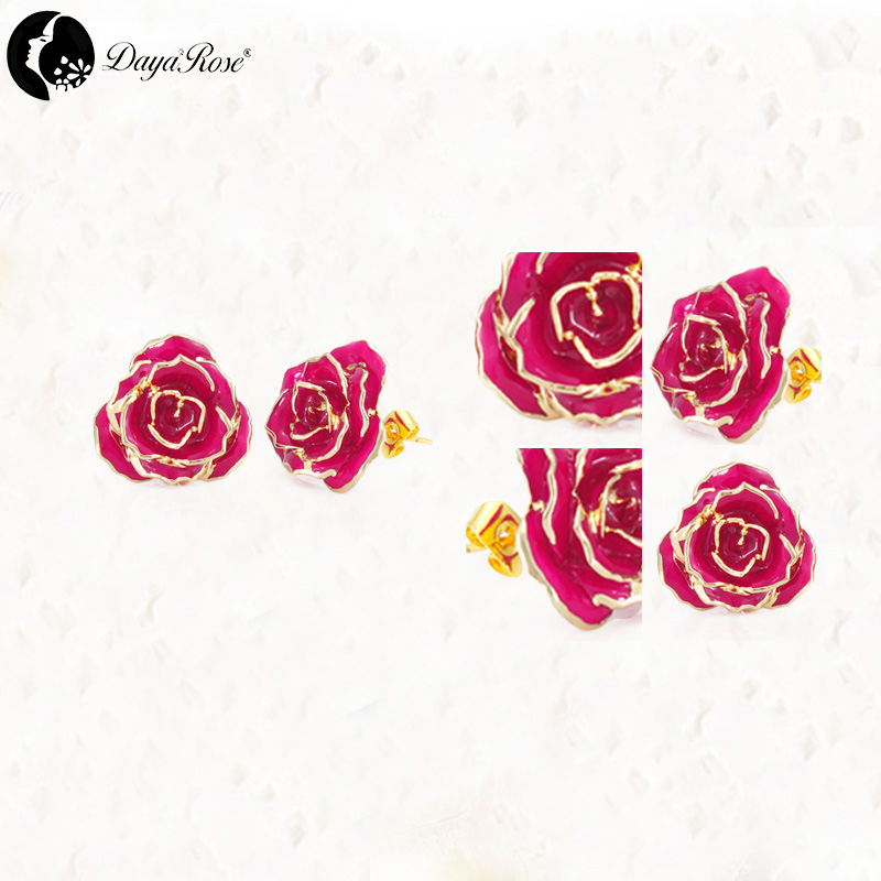 Mosaic Gold Rose Color Jewelry (natural Flowers)
