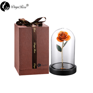 Wholesale Processing Customized Diana Orange Gold Rose (The Glass Cover)