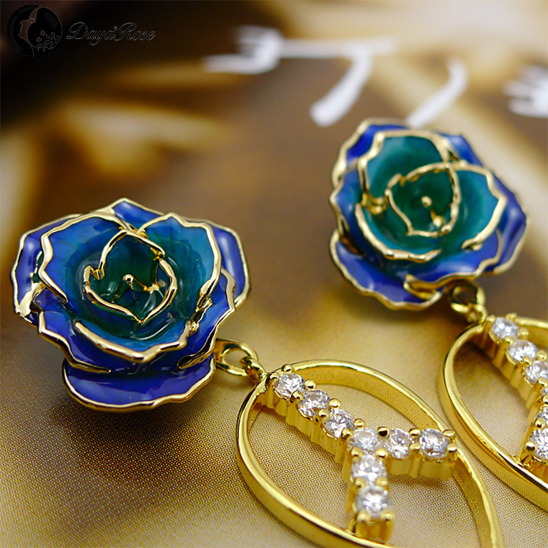 Retro Gold Rose Earrings (fresh Rose)