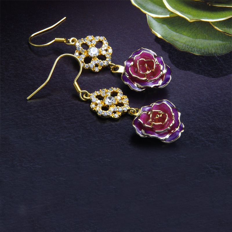Petal Gold Rose Earring (fresh Rose)