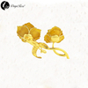Lover's Pure Gold Rose Brooch (natural Flowers)